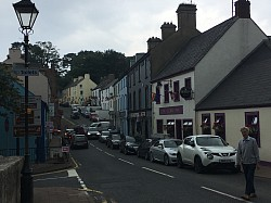 Main Street in Cushendall on Antrim Coast Rd